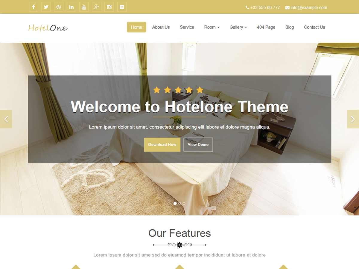 Hotelone Preview Wordpress Theme - Rating, Reviews, Preview, Demo & Download