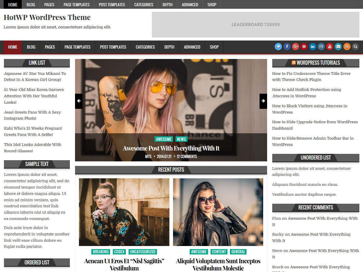 HotWP Preview Wordpress Theme - Rating, Reviews, Preview, Demo & Download