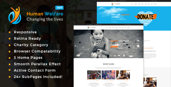 Human Welfare Preview Wordpress Theme - Rating, Reviews, Preview, Demo & Download