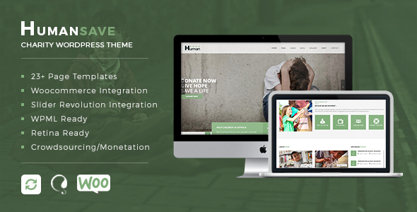 Humansave Preview Wordpress Theme - Rating, Reviews, Preview, Demo & Download
