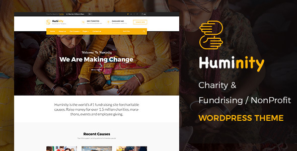 Huminity Preview Wordpress Theme - Rating, Reviews, Preview, Demo & Download