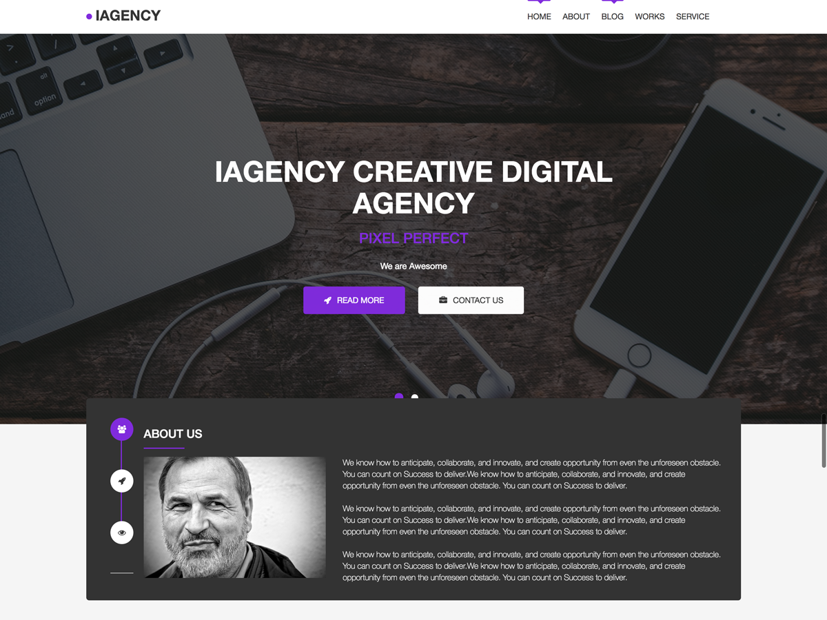 IAgency Preview Wordpress Theme - Rating, Reviews, Preview, Demo & Download