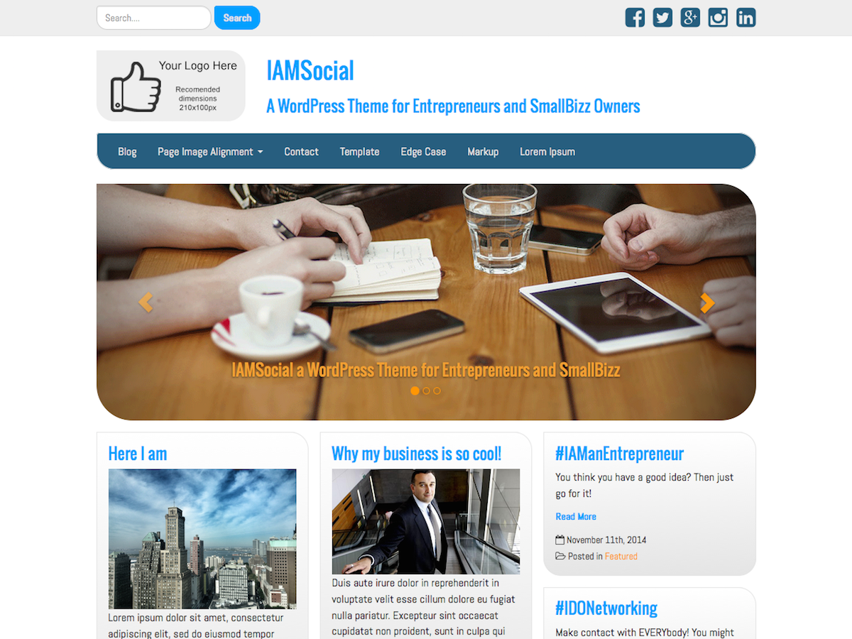 IAMSocial Preview Wordpress Theme - Rating, Reviews, Preview, Demo & Download