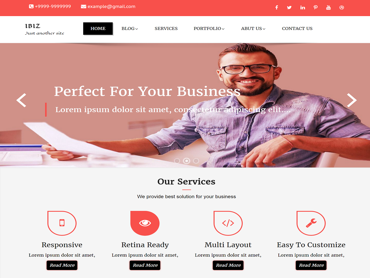 IBiz Preview Wordpress Theme - Rating, Reviews, Preview, Demo & Download