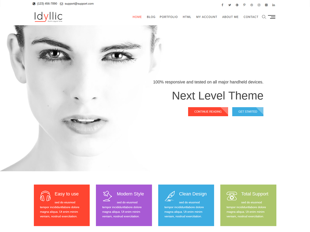 Idyllic Preview Wordpress Theme - Rating, Reviews, Preview, Demo & Download