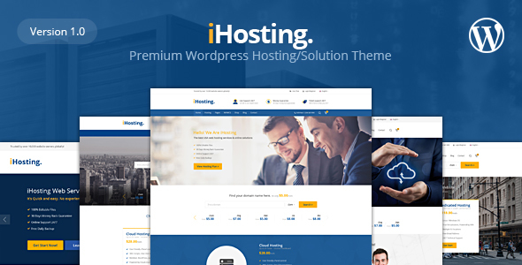 IHosting Preview Wordpress Theme - Rating, Reviews, Preview, Demo & Download