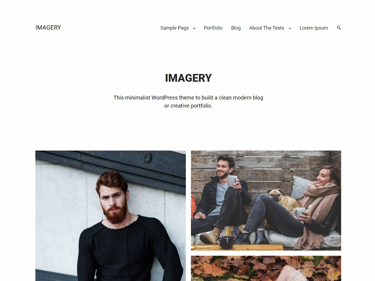 Imagery Preview Wordpress Theme - Rating, Reviews, Preview, Demo & Download