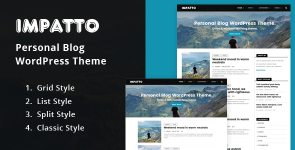 Impatto Preview Wordpress Theme - Rating, Reviews, Preview, Demo & Download