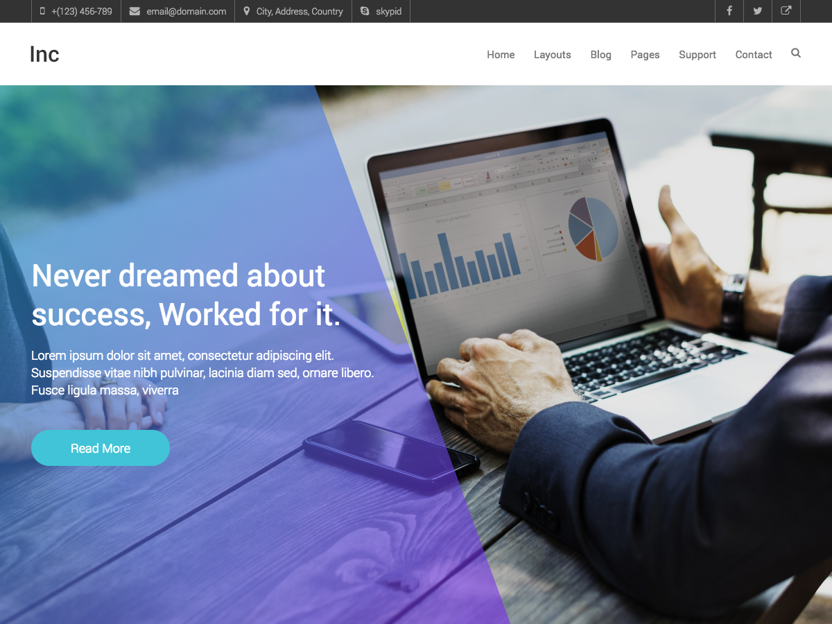 Inc Preview Wordpress Theme - Rating, Reviews, Preview, Demo & Download