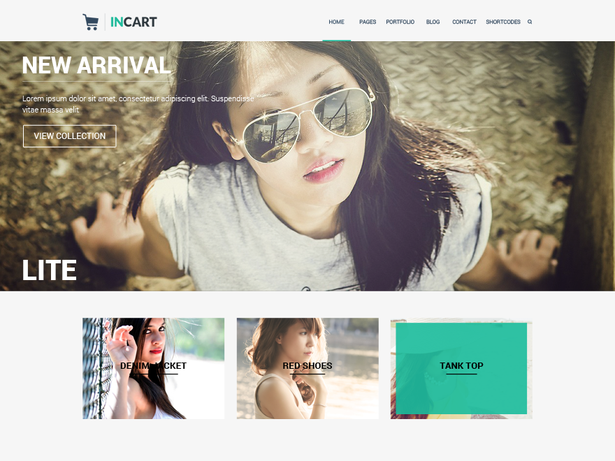 Incart Lite Preview Wordpress Theme - Rating, Reviews, Preview, Demo & Download