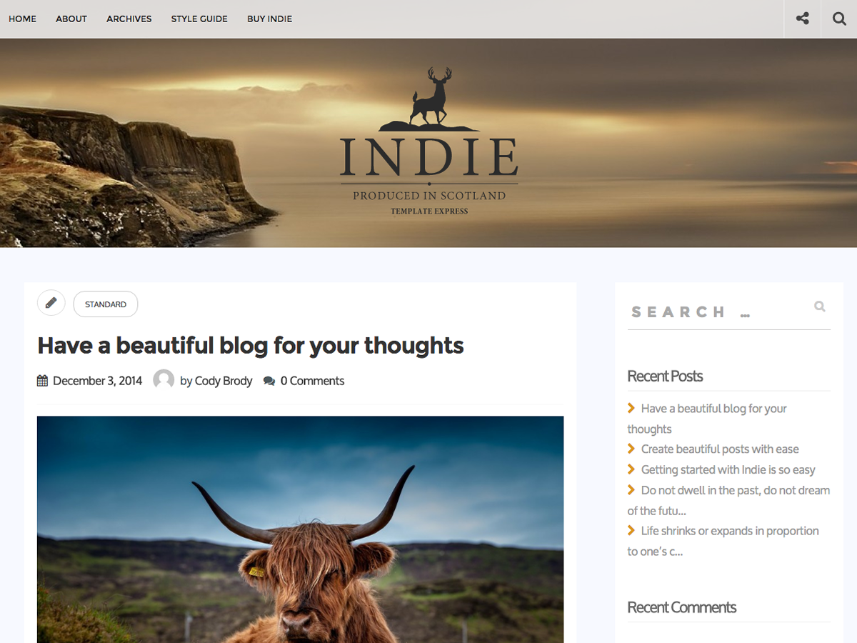 Indie Preview Wordpress Theme - Rating, Reviews, Preview, Demo & Download