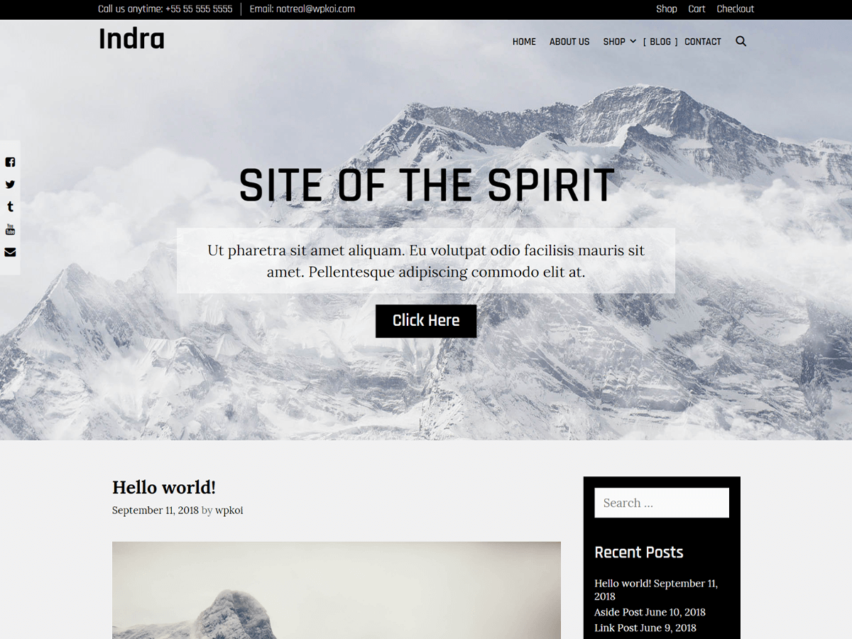 Indra Preview Wordpress Theme - Rating, Reviews, Preview, Demo & Download