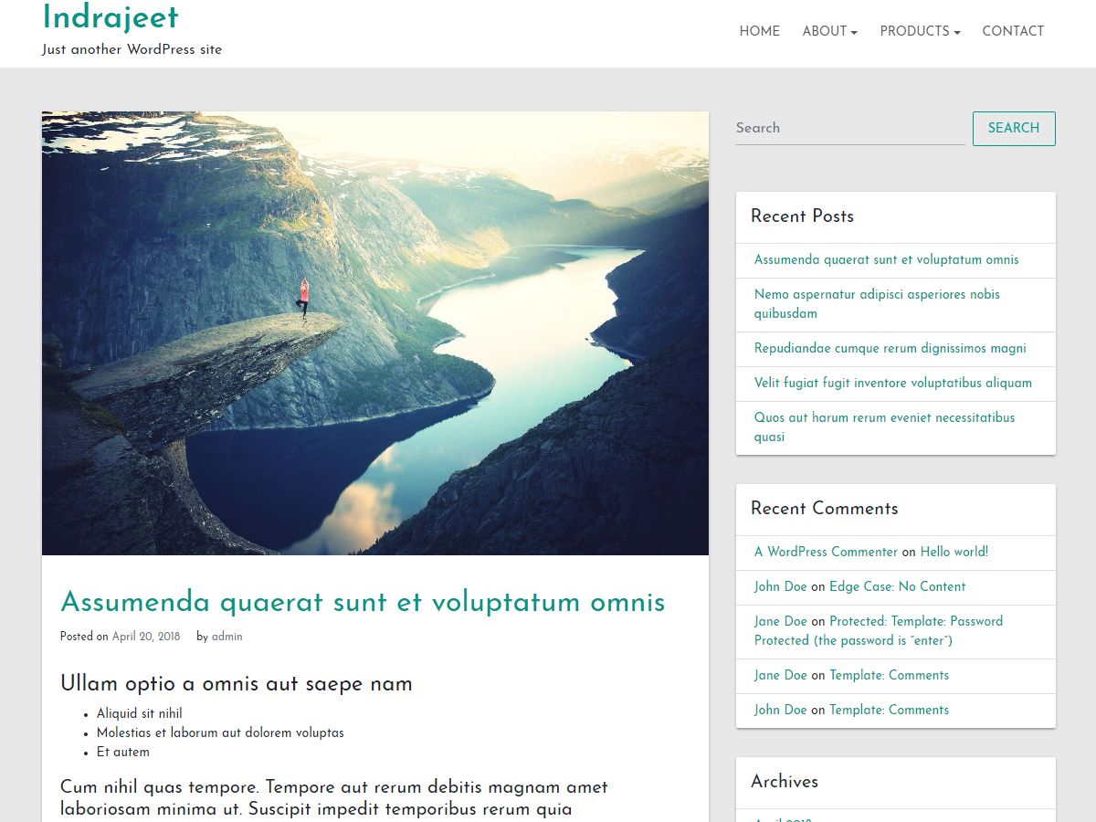 Indrajeet Preview Wordpress Theme - Rating, Reviews, Preview, Demo & Download