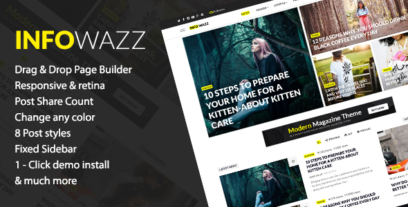InfoWazz Preview Wordpress Theme - Rating, Reviews, Preview, Demo & Download