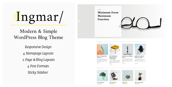 Ingmar Preview Wordpress Theme - Rating, Reviews, Preview, Demo & Download