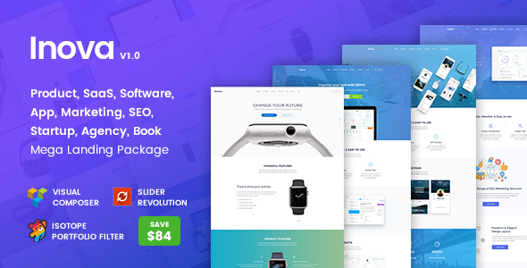 Inova Preview Wordpress Theme - Rating, Reviews, Preview, Demo & Download