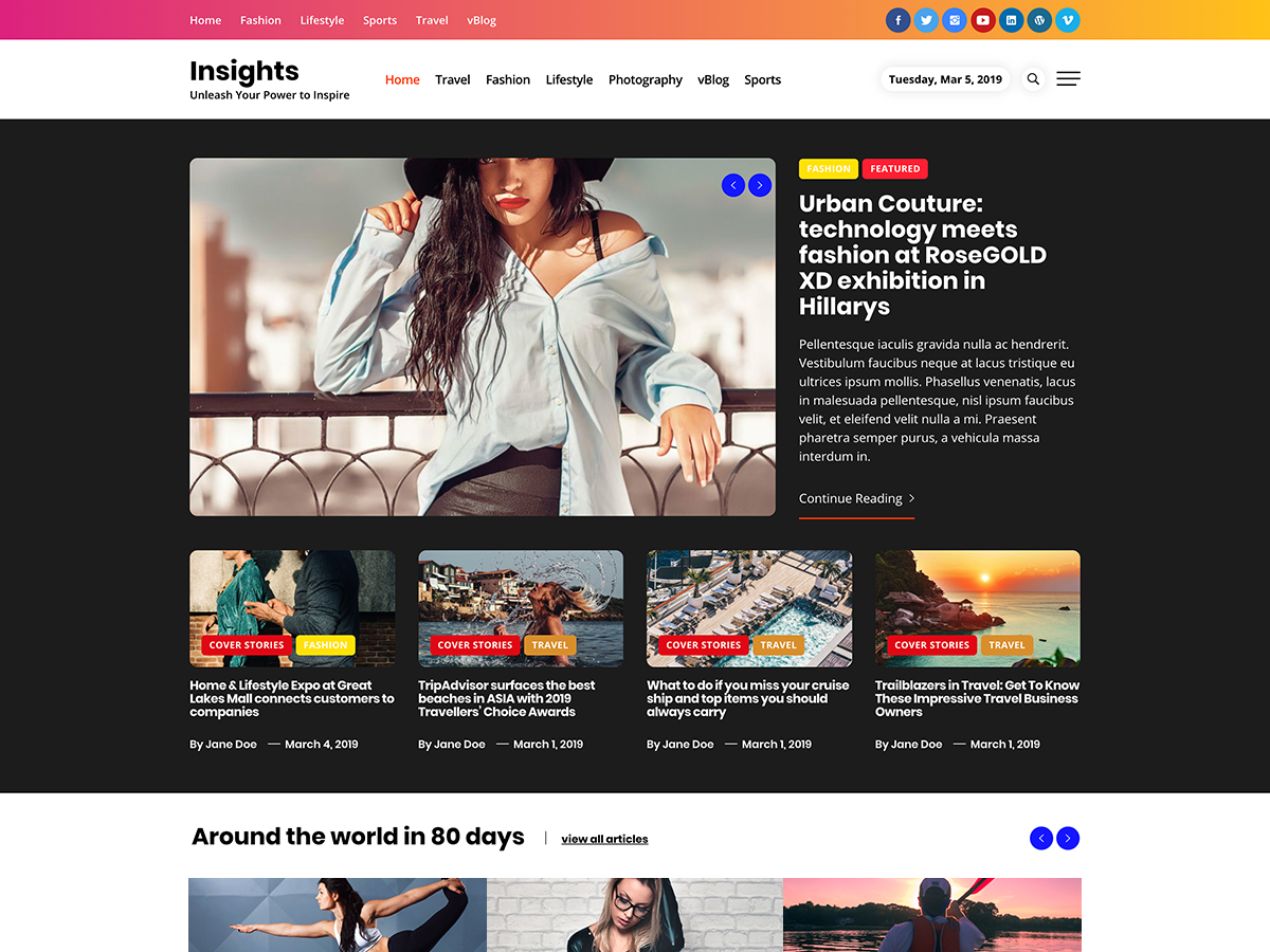 Insights Preview Wordpress Theme - Rating, Reviews, Preview, Demo & Download