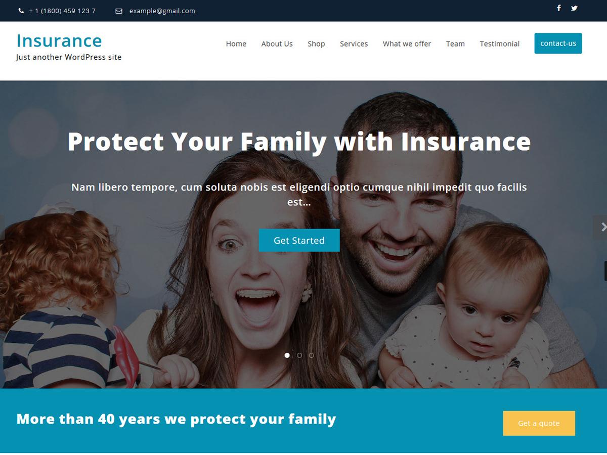 Insurance Hub Preview Wordpress Theme - Rating, Reviews, Preview, Demo & Download