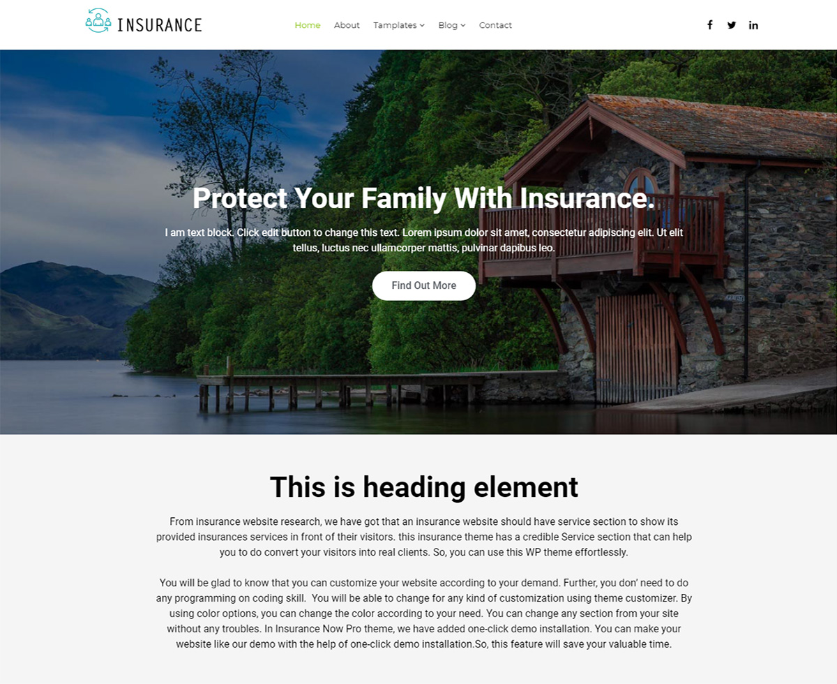 Insurance Now Preview Wordpress Theme - Rating, Reviews, Preview, Demo & Download