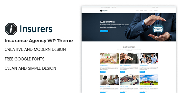 Insurers Preview Wordpress Theme - Rating, Reviews, Preview, Demo & Download