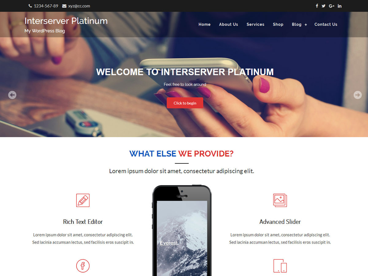 Interserver Platinum Preview Wordpress Theme - Rating, Reviews, Preview, Demo & Download
