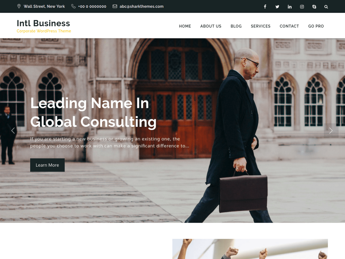 Intl Business Preview Wordpress Theme - Rating, Reviews, Preview, Demo & Download
