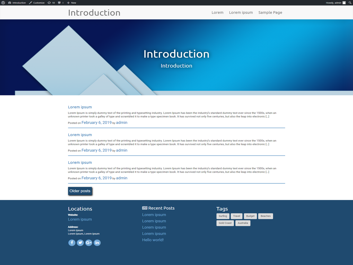 Introduction Preview Wordpress Theme - Rating, Reviews, Preview, Demo & Download