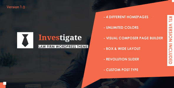 Investigate Preview Wordpress Theme - Rating, Reviews, Preview, Demo & Download