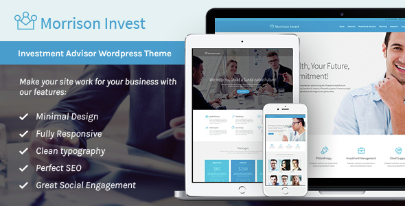 Investments Preview Wordpress Theme - Rating, Reviews, Preview, Demo & Download