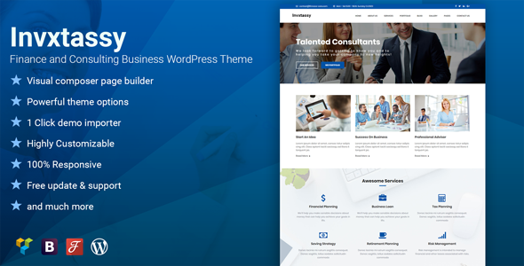 Invxtassy Preview Wordpress Theme - Rating, Reviews, Preview, Demo & Download