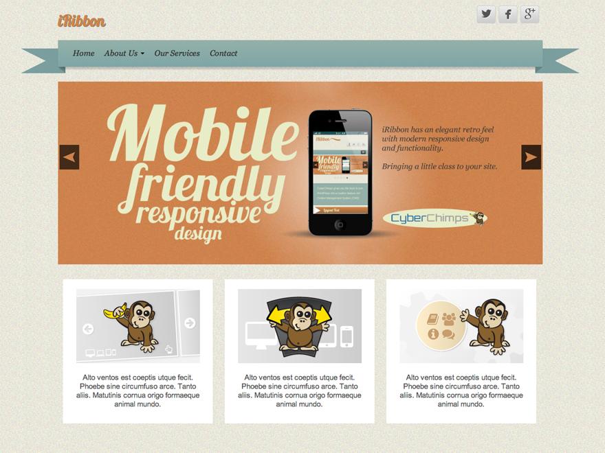 IRibbon Preview Wordpress Theme - Rating, Reviews, Preview, Demo & Download
