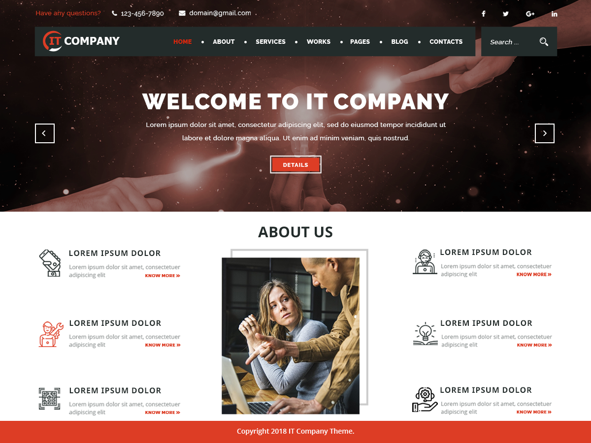 IT Company Preview Wordpress Theme - Rating, Reviews, Preview, Demo & Download