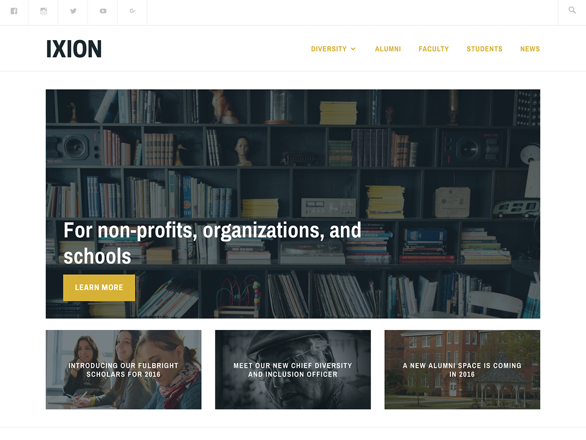 Ixion Preview Wordpress Theme - Rating, Reviews, Preview, Demo & Download