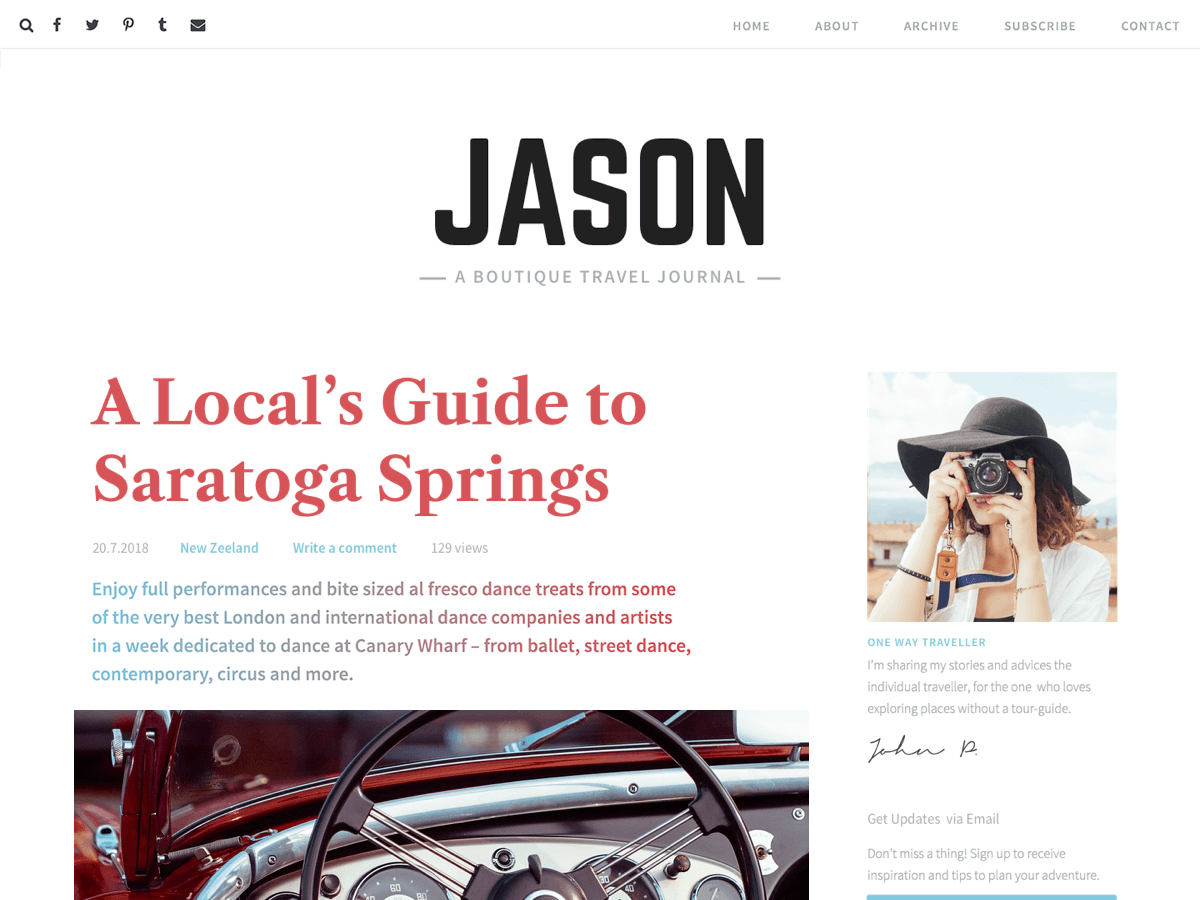 Jason Lite Preview Wordpress Theme - Rating, Reviews, Preview, Demo & Download