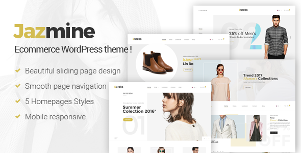 Jazmine Preview Wordpress Theme - Rating, Reviews, Preview, Demo & Download