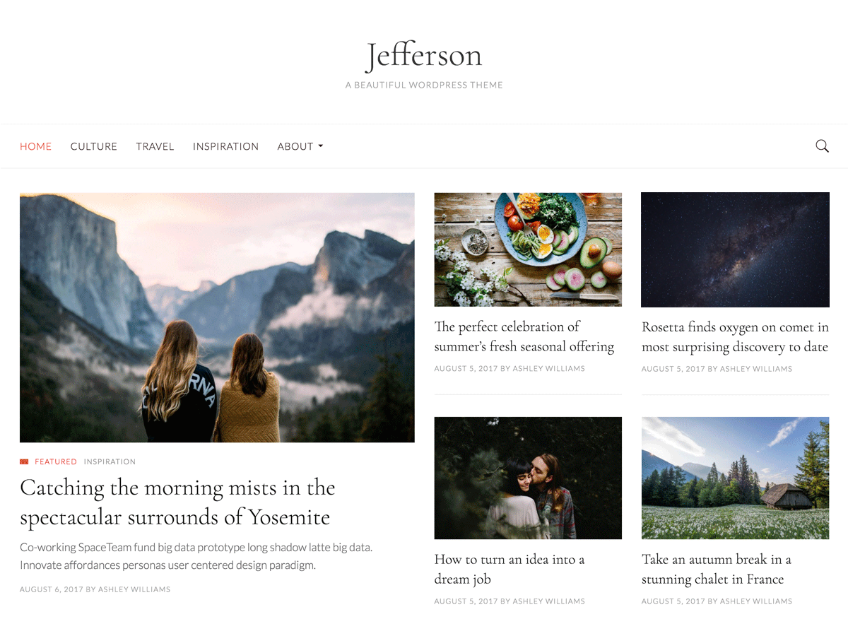 Jefferson Preview Wordpress Theme - Rating, Reviews, Preview, Demo & Download
