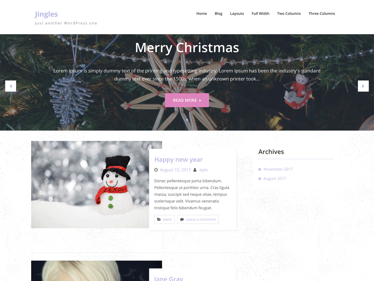 Jingle Preview Wordpress Theme - Rating, Reviews, Preview, Demo & Download