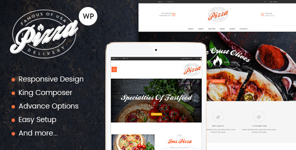 JMS Pizza Preview Wordpress Theme - Rating, Reviews, Preview, Demo & Download