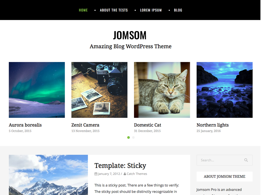 Jomsom Preview Wordpress Theme - Rating, Reviews, Preview, Demo & Download