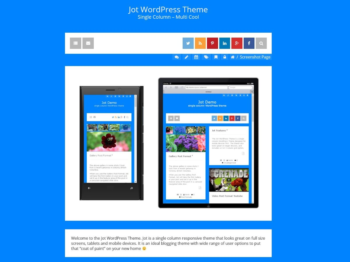 Jot Preview Wordpress Theme - Rating, Reviews, Preview, Demo & Download