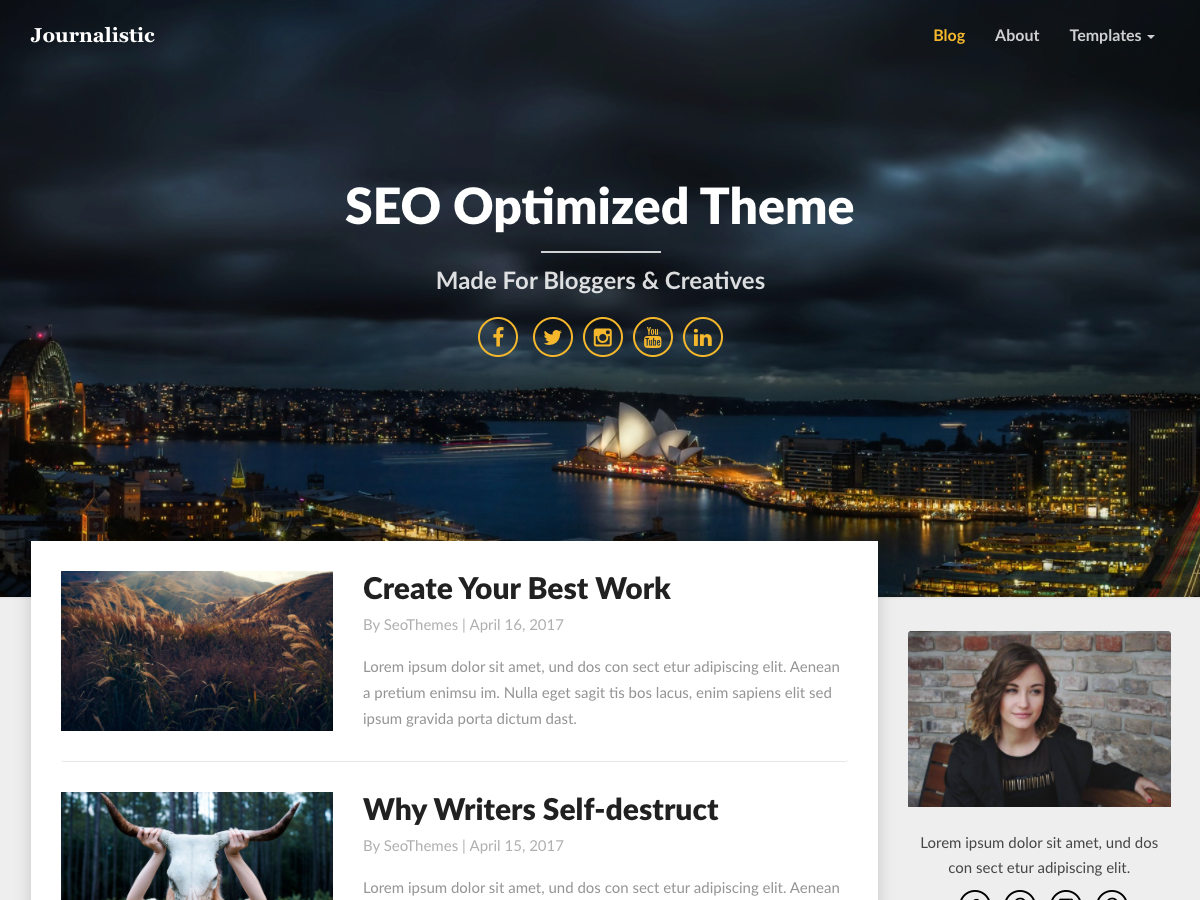 Journalistic Preview Wordpress Theme - Rating, Reviews, Preview, Demo & Download