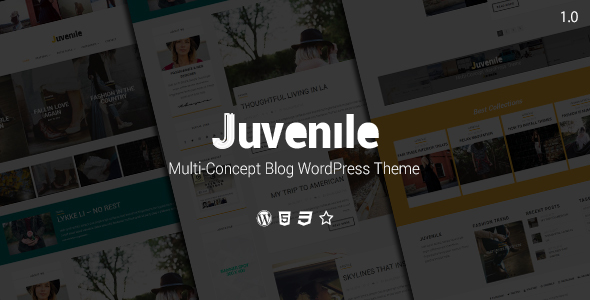 Juvenile Preview Wordpress Theme - Rating, Reviews, Preview, Demo & Download