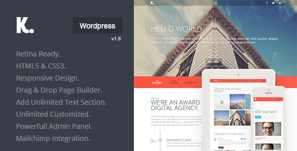 K Preview Wordpress Theme - Rating, Reviews, Preview, Demo & Download