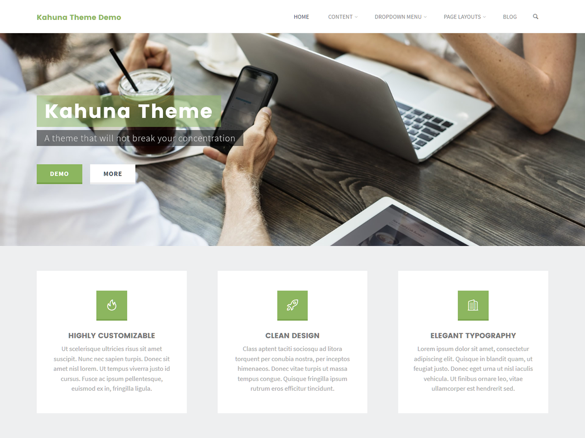 Kahuna Preview Wordpress Theme - Rating, Reviews, Preview, Demo & Download