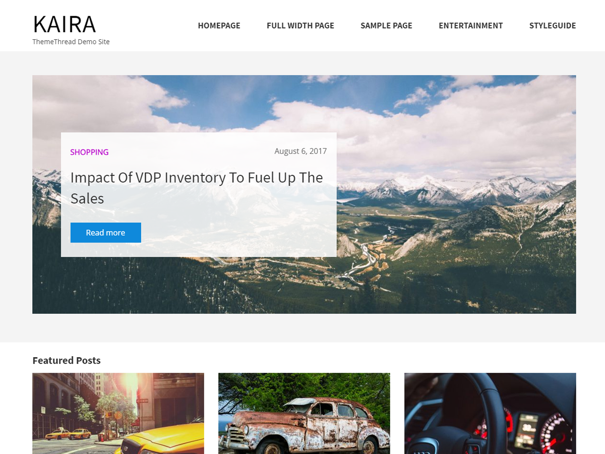Kaira Preview Wordpress Theme - Rating, Reviews, Preview, Demo & Download