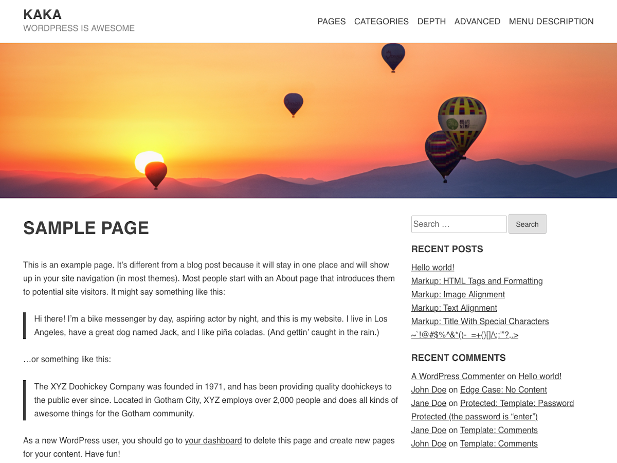 Kaka Preview Wordpress Theme - Rating, Reviews, Preview, Demo & Download