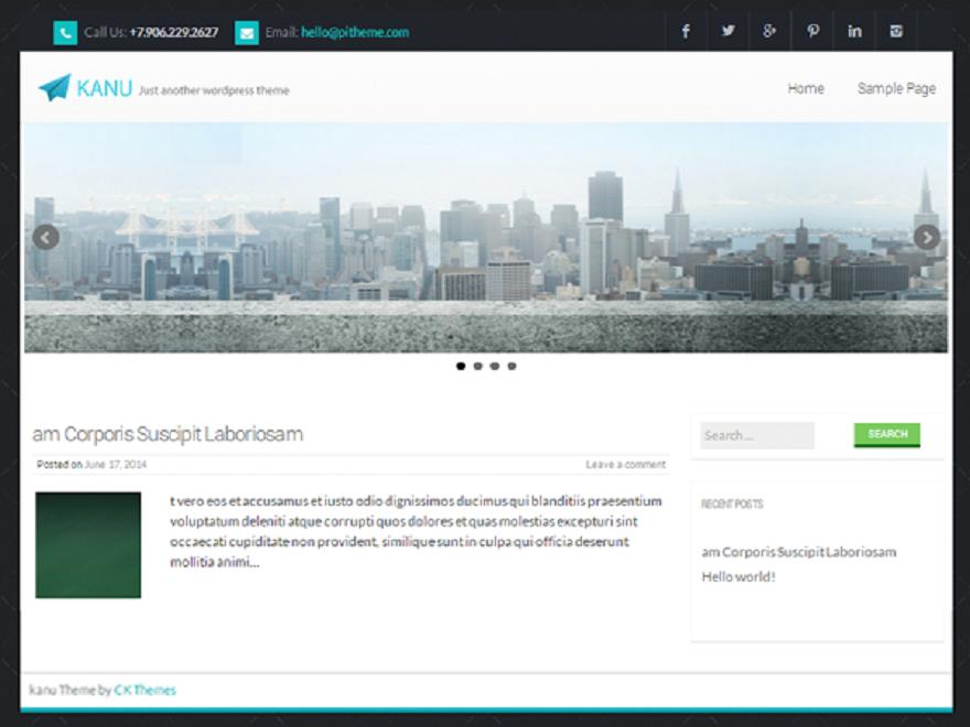Kanu Preview Wordpress Theme - Rating, Reviews, Preview, Demo & Download