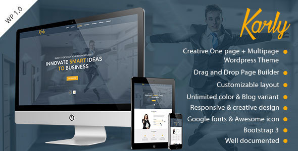 Karly Preview Wordpress Theme - Rating, Reviews, Preview, Demo & Download