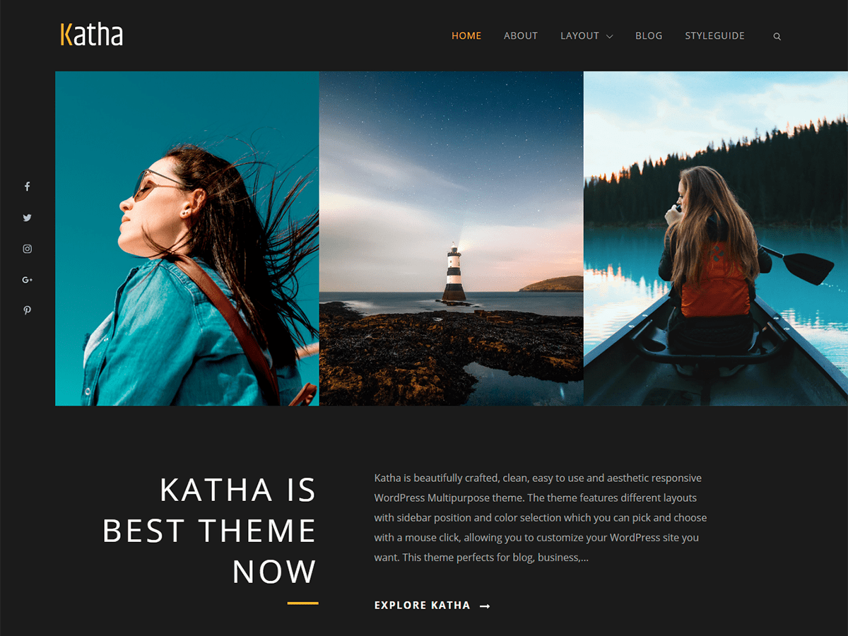 Katha Preview Wordpress Theme - Rating, Reviews, Preview, Demo & Download