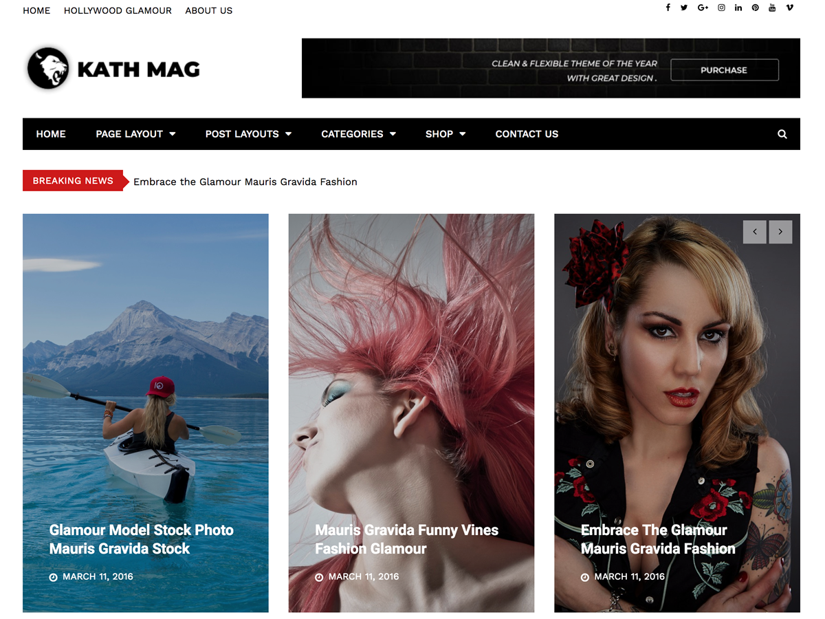 Kathmag Preview Wordpress Theme - Rating, Reviews, Preview, Demo & Download